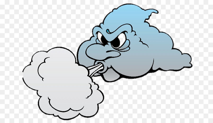 Wind Cloud Drawing Clip Art.
