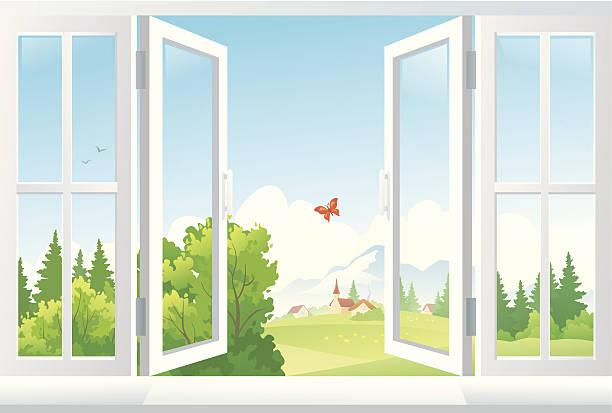 Best Window Frame Illustrations, Royalty.