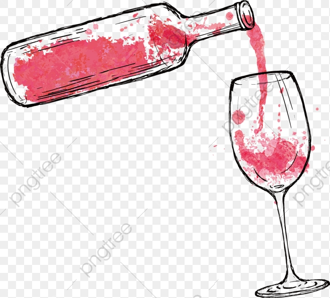 Cartoon Red Wine, Cartoon Clipart, Wine Clipart, Red Wine PNG.