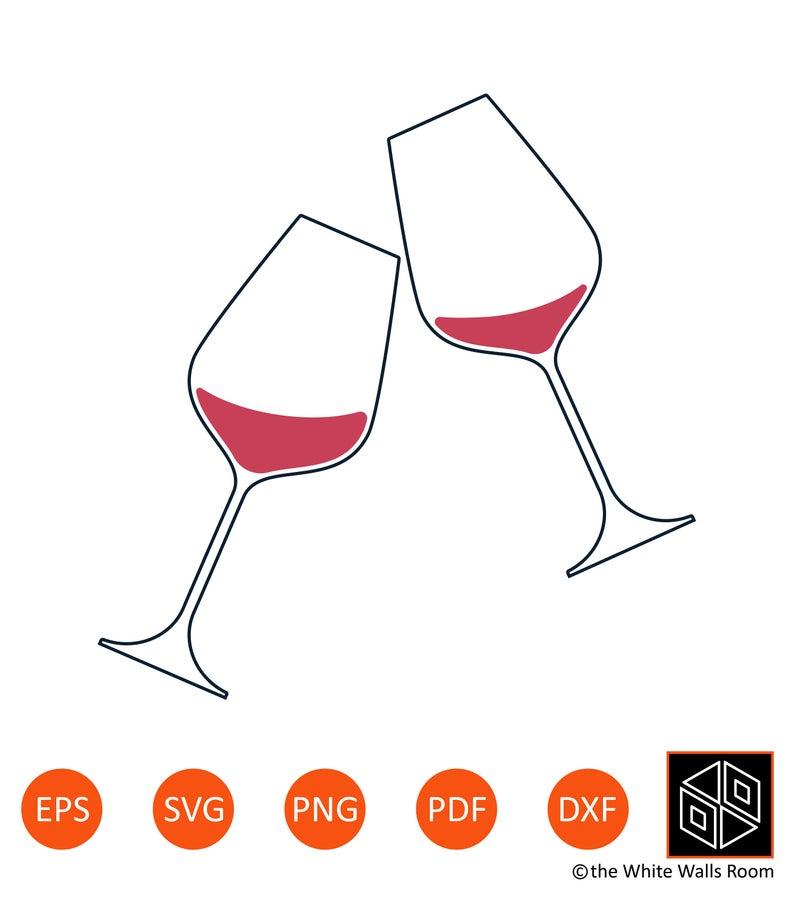 Wine Glasses SVG.