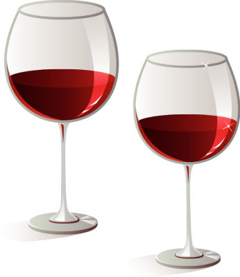 Vintage wine glasses glass and on clipart.