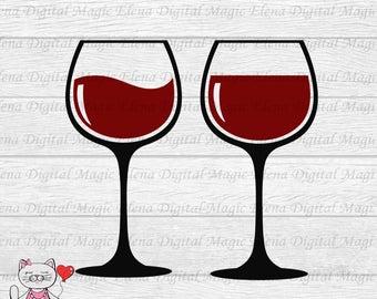 Wine glasses clipart.