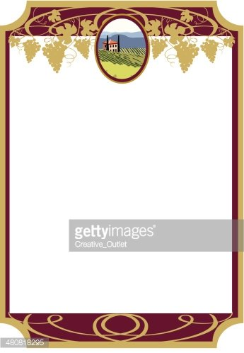 Wine Label Frame2 C premium clipart.