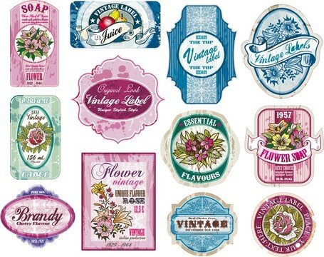 Free Vintage Wine Label Collection 02 Clipart and Vector Graphics.