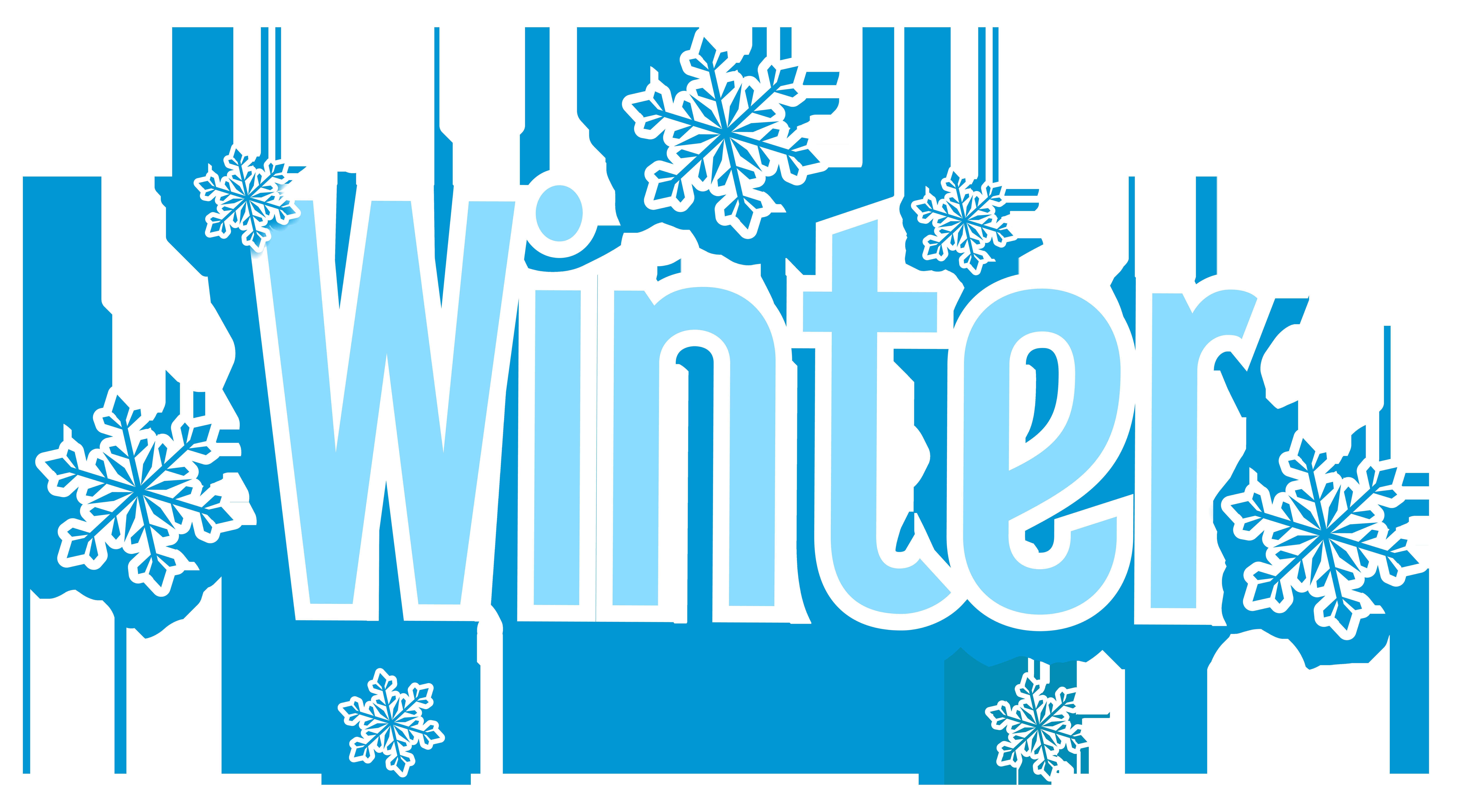 Winter Text Transparent PNG Clip Art Image.