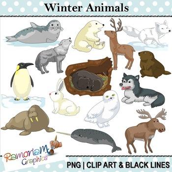 Arctic Animals Clip art.