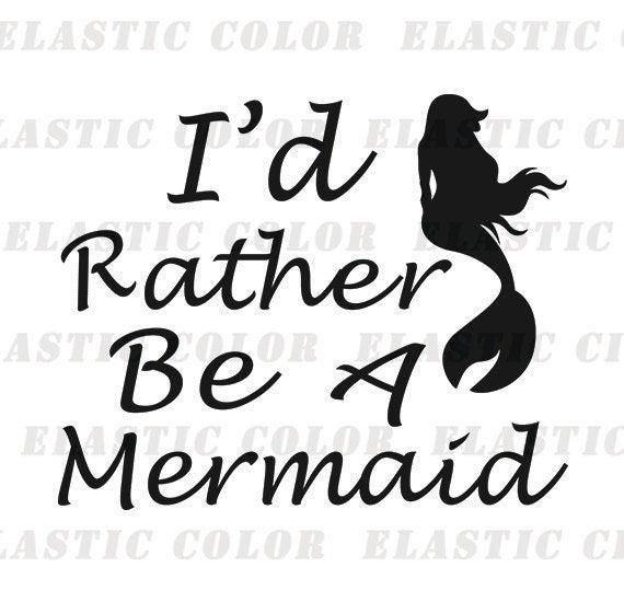 Mermaid sayings svg clipart.