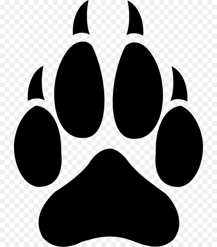 Free Wolf Paw Print Silhouette, Download Free Clip Art, Free Clip.