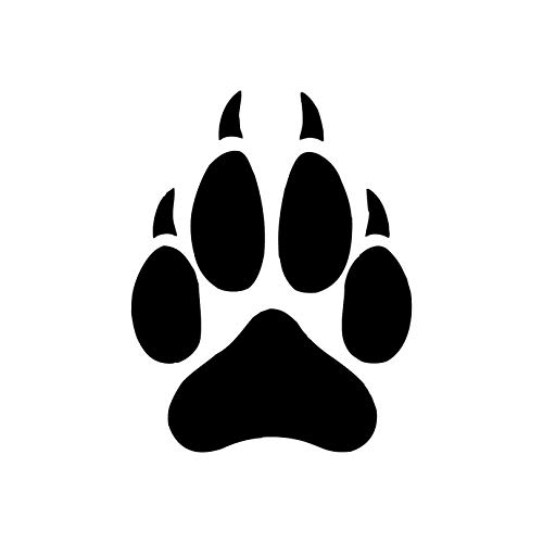 Amazon.com: 20 Wolf Paw Print Decals.