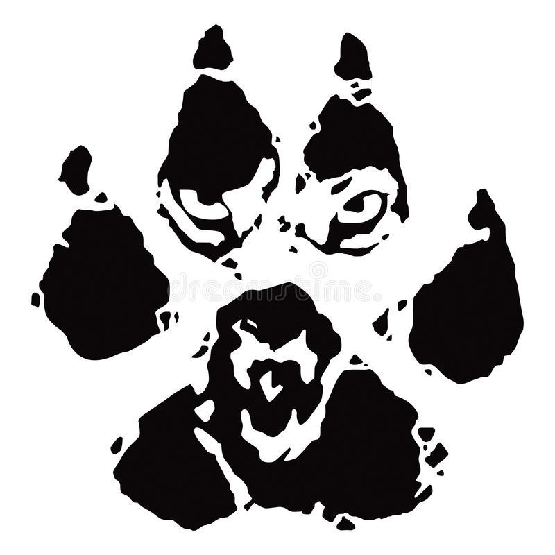 Footprint Wolf Stock Illustrations.