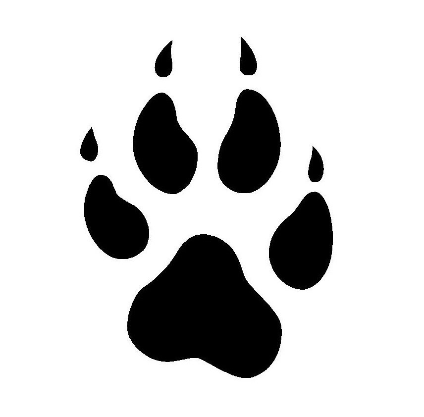 Wolf Paw Clipart.