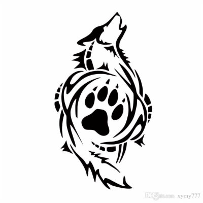 Result For: wolf paw print , Free png Download.