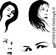 Woman Face Clip Art.