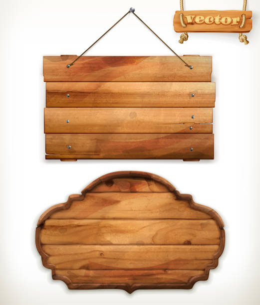 Best Wooden Sign Illustrations, Royalty.