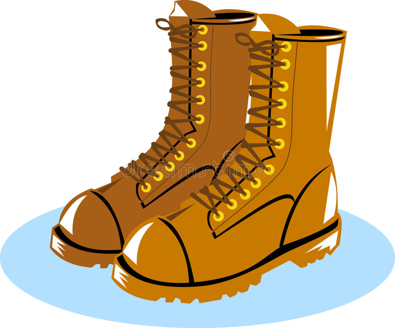 Working Boots Stock Illustrations.