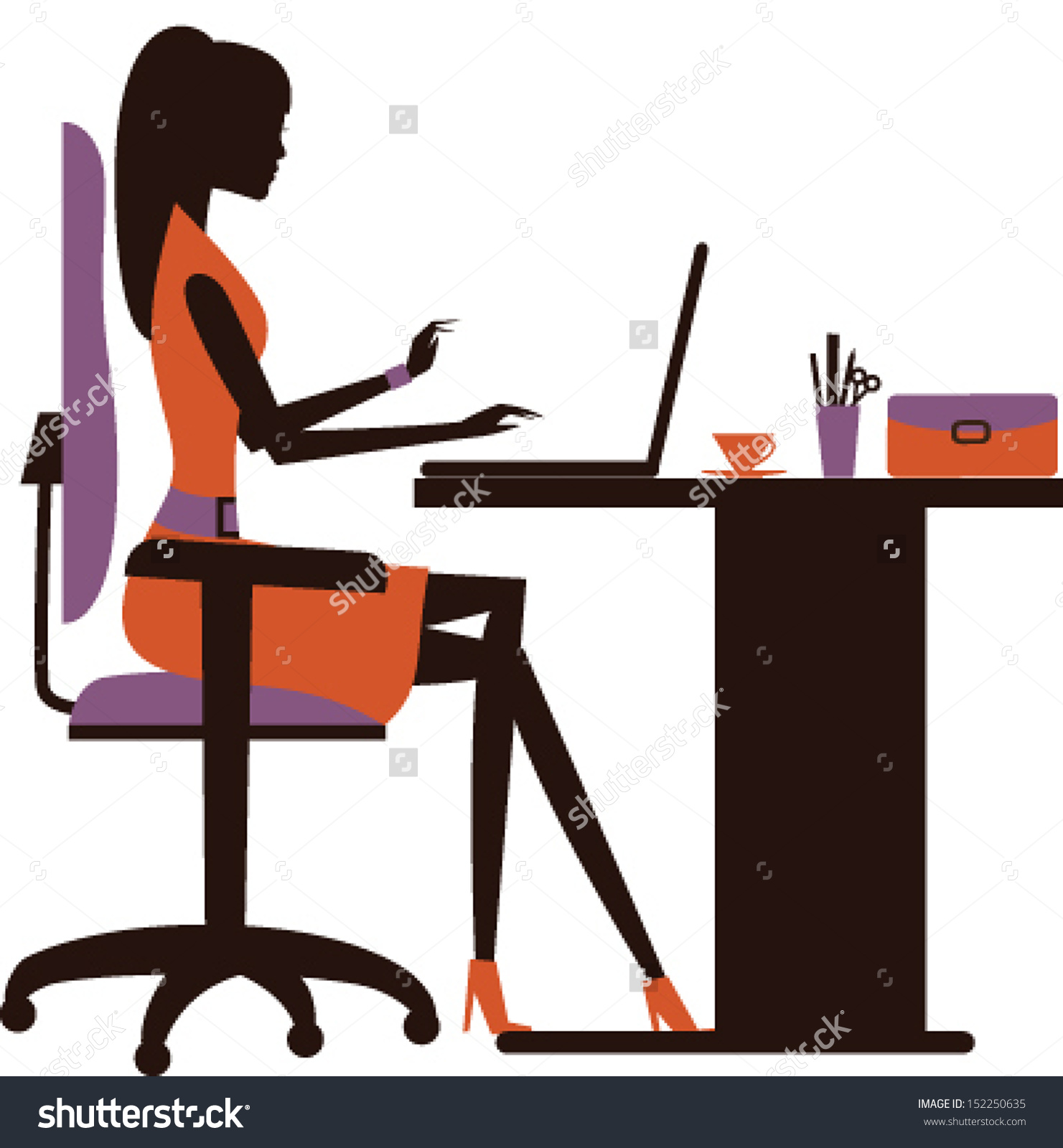 Working Woman Clipart.