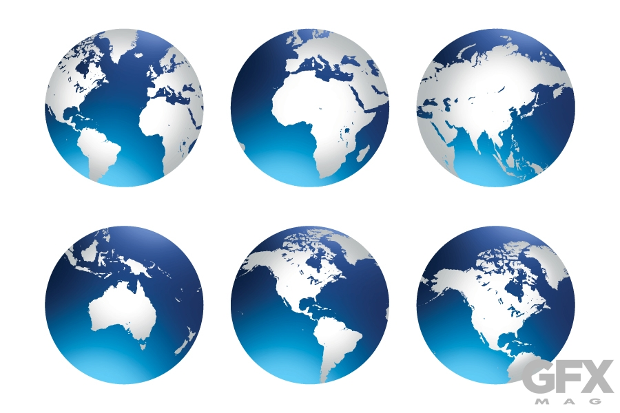Free Vector World Globe Earth Icon Clip Art Graphic.
