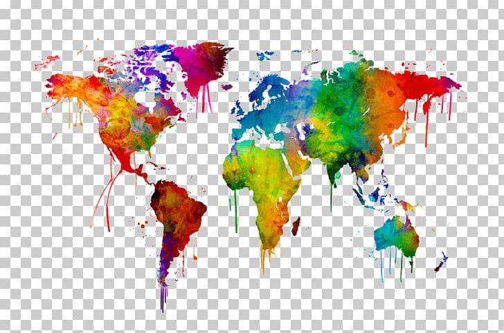World Map Watercolor Painting Art PNG, Clipart, Art, Art Museum.