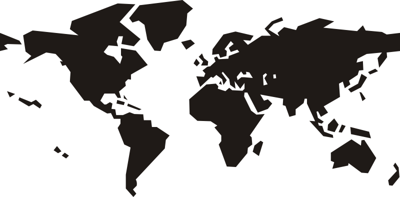 Free Clipart: World map.