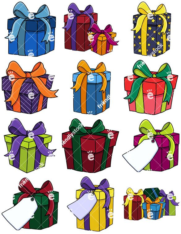 Presents And Gift Boxes Collection.