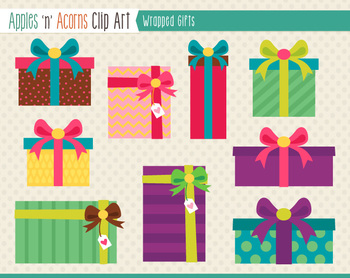 Wrapped Gifts Clip Art.