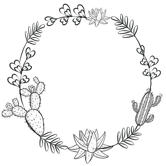 Black and white wreath clipart 4 » Clipart Station.