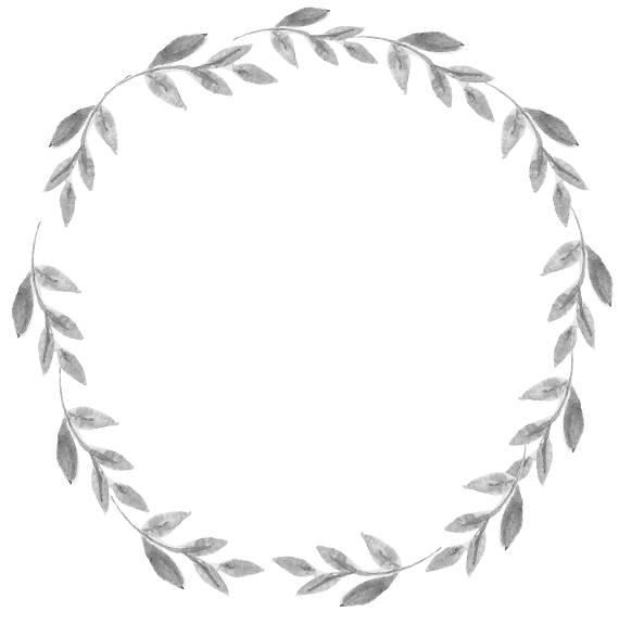Autumn Wreath Black And White Png & Free Autumn Wreath Black And.