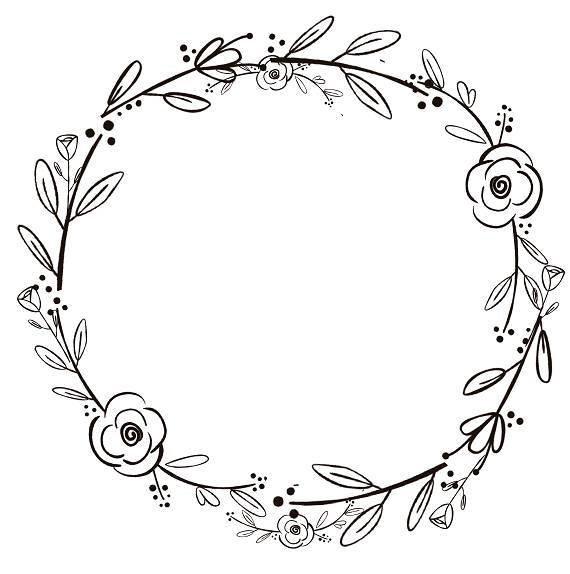 Wreath black and white clipart 1 » Clipart Portal.