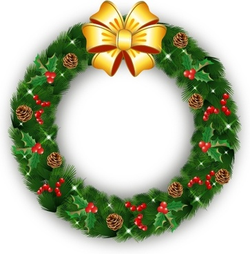 Christmas wreath clip art free vector download (220,590 Free vector.