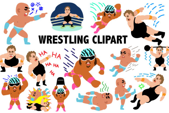Professional Wrestling Clipart.