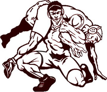 Wrestlers Drawings.