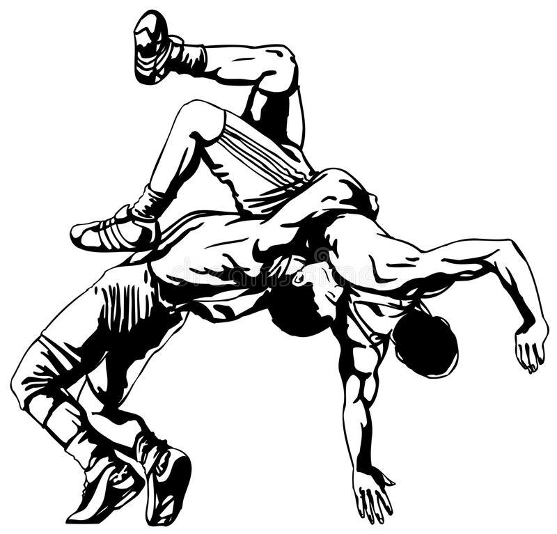 Wrestling Stock Illustrations.