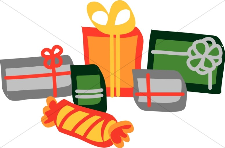 Colorful Christmas Presents Clipart.