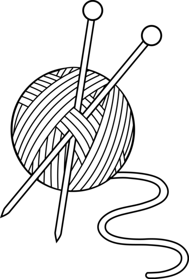 Black and White Knitting Set.