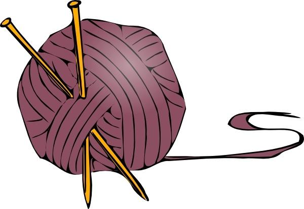 Knitting Yarn Needles clip art Free vector in Open office drawing.