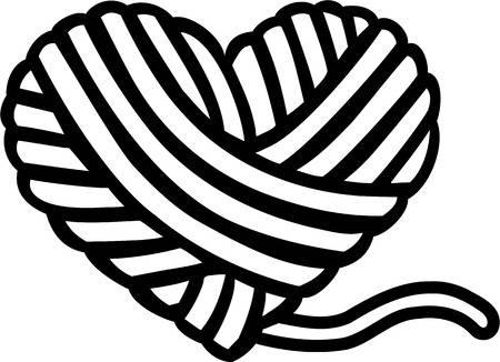 Heart clip art yarn.