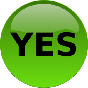 Yes Button PNG, SVG Clip art for Web.