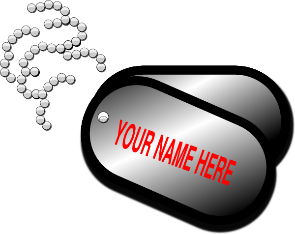 Your Name Here Dog Tag Clip Art at Clker.com.
