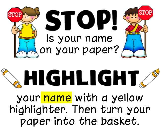 Remembering names on papers.