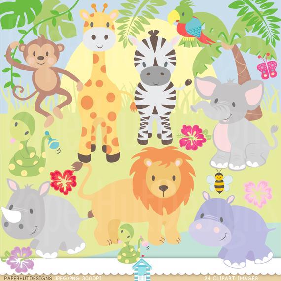 Jungle Animal Clipart.