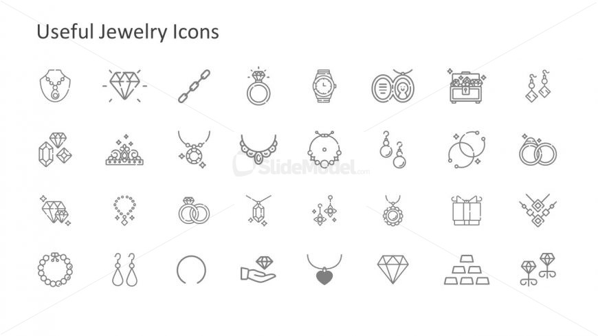 Template of Jewelry Clip Arts PPT.
