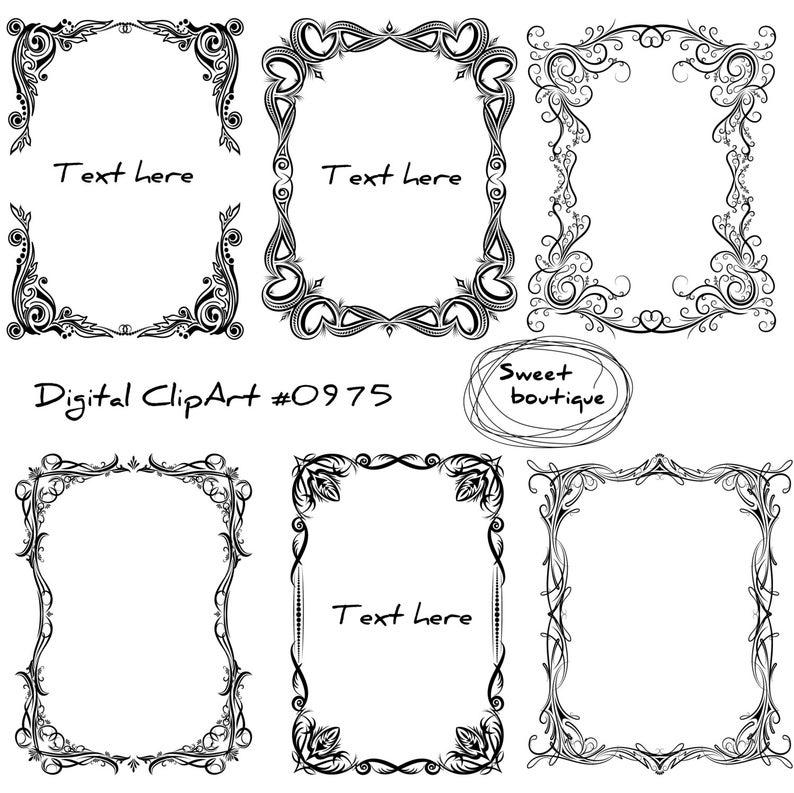 Flower Clip Art frames.