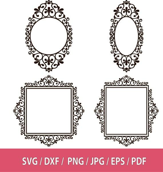 Frames svg, Ornate Frame Clip Art, Frames ClipArt, Wedding Clipart, Banner  Clipart, Banner Digital, Frame SVG Bundle, Ornamental Frame.