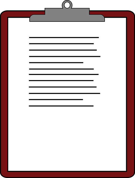 Clipboard Paper Clip.