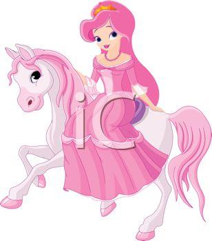Princess Riding on Her Pony.