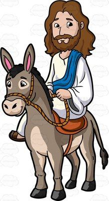 Jesus Riding A Donkey.