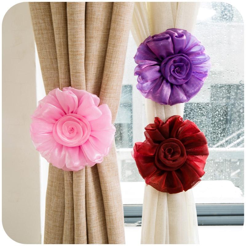 Popular Flower Tie Backs.