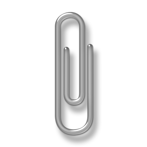 Grey paper clip icon #13271.
