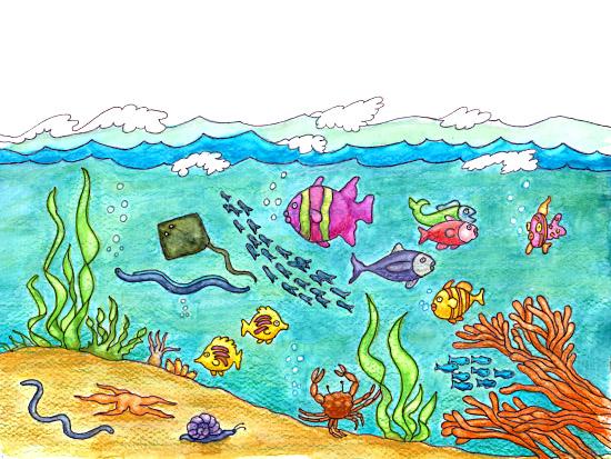6684 Ocean free clipart.