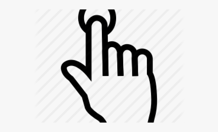 Single Clipart Number 1 Finger.